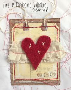 """""""Every Life Has a Story!"""" - {Roben-Marie Smith} - Tag & Cardboard ValentineTutorial..."""