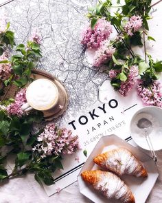 Map poster of Tokyo, Japan. Flat Lay Photography, Food Photography, Coffee Photography, Online Posters, Map Posters, Flatlay Styling, Coffee And Books, Fika, Coffee Time