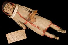 Canadian costume doll representing a man with snowshoes (pinned separately). (1912.38.2)