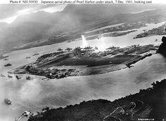 Pearl Harbor under attack, Dec. 7, 1941.