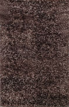 Rugsville Solid Brown Shag 22046 5x8 Rug