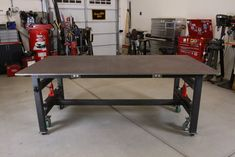 Metal Work Bench, Welding Table, Metal Shop, Workshop Ideas, Tool Storage, Innovation Design, Drafting Desk, Metal Working, Tools