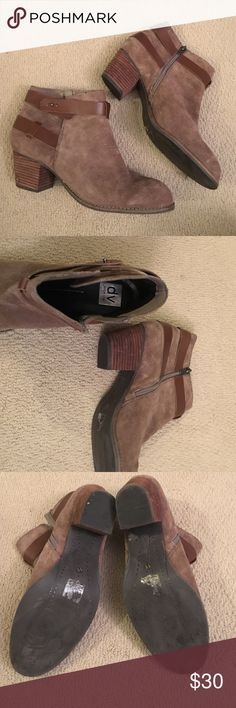 Dolce Vita Brown Suede Booties! Dolce Vita Size 11 Brown suede booties with 2 inch clock heel. Perfect for fall! Lightly worn a few times wish I could keep but hurt my feet. Make me an offer! DV by Dolce Vita Shoes Ankle Boots & Booties