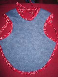 Denim and Hankerchief Baby Child Bapron Bib by BaLulusShop on Etsy, $7.99