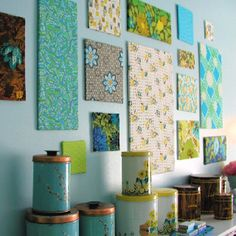 Cute & easy idea for decorating ~ use Hawaiian fabric or scrapbook paper