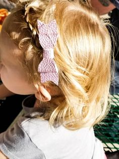 Mommy Daughter Matching - Vegan Leather Jewelry - Faux Leather Bow - Lightweight Earrings - Pretty Purple Bow - Soft Headband or Hair clip