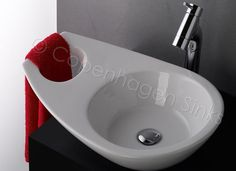 Vessel sink with towel holder  $98 via eBay  - what a fun design for a tiny bathroom