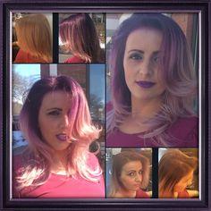 Purple passion ❤💕 #lovewhatido #lakmeusa #blonde #lucia #colormelt #haircolor #fun #fundaysunday #shine #mixtones #fantasy #love #beautiful
