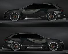 Jon Olsson Audi RS6 in grey camo