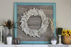 Fall is fast approaching! I made this easy DIY fall wreath for free! It is a great afternoon project. This wreath is sure to help you get your fall decor ready!