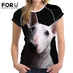 3D Bull Terriers Bull Terriers, Blue Green, 3d, T Shirt, Women, Style, Tee Shirt, Stylus, Tee