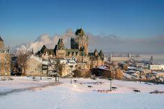 Le château Frontenac en hiver, Québec | 20 paysages québécois à couper le souffle