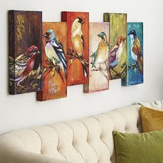 Assemblage of Birds Art