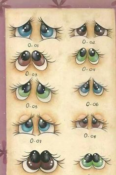 Painted Rocks – More than 300 Picture Ideas – Arts And Crafts – All DIY Projects Stone Painting, Painting & Drawing, Drawing Eyes, Figure Drawing, Rock Crafts, Arts And Crafts, Art Rupestre, Eye Expressions, Art Pierre