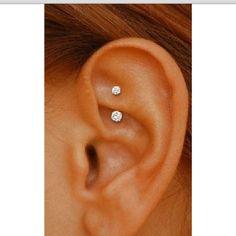 Ear piercing.