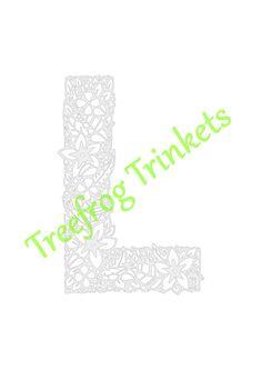 CYO Papercut Template Letter L by TreefrogsTrinkets on Etsy