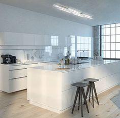 Plafonnier Fis LED White Kitchen Floor, Black Kitchen Cabinets, Black Kitchens, Dark Cabinets, Modern Flooring, Vinyl Flooring, Kitchen Flooring, Plank Flooring, Flooring Ideas