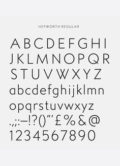 Barbara Hepworth, typography, design, graphic, alphabet, retro, sans serif, type, lettering