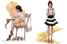 more fashion sketches