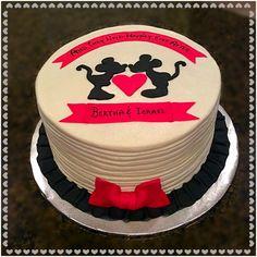 Mickey & Minnie Anniversary Cake