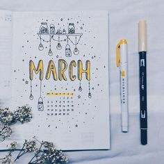 Love this monthly bullet journal spread #bulletjournal #bujo #monthly