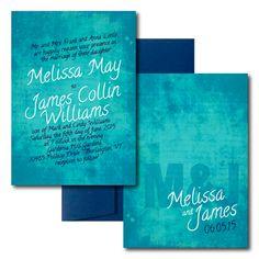 Colorful Canvas Wedding Invitation