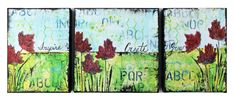 Great video, beautiful canvases; Donna Downey Artist Gang Tuesday