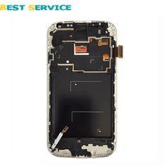 Pour Samsung Pour Galaxy S4 i9500 i9505 i337 LCD Affichage Écran Tactile Digitizer Avec Cadre Blanc/Bleu + Outils Livraison Gratuite