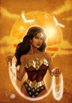Wonder Woman Sunset - Lynne Yoshii