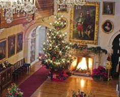 Althorp at Christmas.  Diana's childhood home. Been in here for Christmas Tea & Carols. stood right by the Tree.