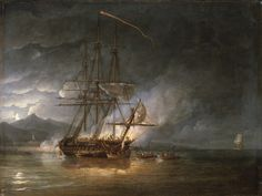 The cutting out of HMS Hermione, 24 October 1799 - National Maritime Museum