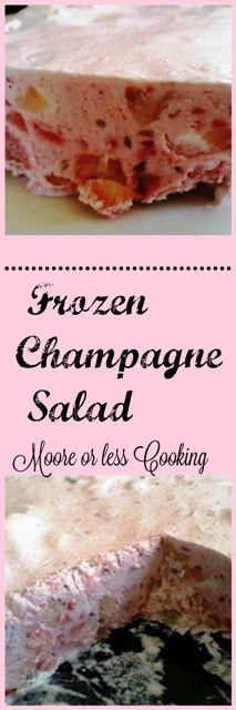 Frozen Champagne Salad #SundaySupper Creamy delicious frozen dessert full of fruit and perfect if you don't own an ice cream maker.