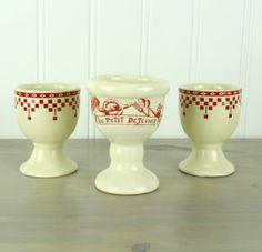 Vintage French Egg Cups, Le Comptoir de Famille