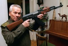 The inventor of the iconic assault rifle, Mikhail Kalashnikov, has died at the age of His ingenuity earned him widespread admiration, but his legacy became more controversial when his weapons were used in some of the world's bloodiest conflicts. Ak 47, Kalashnikov Rifle, Russian Orthodox, Assault Rifle, Military Weapons, Marketing Digital, Guns, At Least, Vietnam