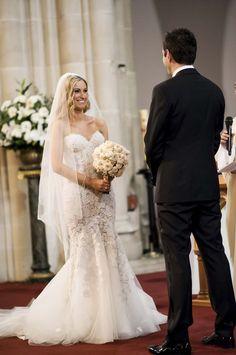White Floral Wedding With Stunning Floral Embellished Wedding Dress: Elise & Julian