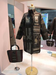 Japanese wearable art, quilted coat, at the 2014 Yokohama International Quilt Week.  Photo by Julie Fukuda | My Quilt Diary