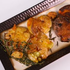 the chew | Recipe | Michael Symon's Smashed And Fried Potatoes