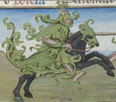 GreenMan? Bibliothèque nationale de France, Latin 1173, detail of f. 3r. Book of Hours, use of Paris. 1475-1500.