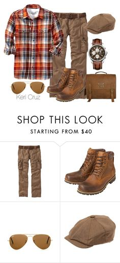 """Rugged Gentleman"" by keri-cruz ❤ liked on Polyvore featuring Old Navy, Earthkeepers By Timberland, Ray-Ban and Christys'"