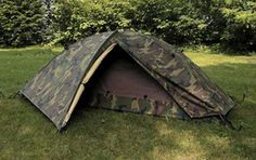 EUREKA TCOP (Tent, Combat One Person) incorporates all of the important features requested by personnel in the field — dry, tough and fast. The TCOP has a full coverage fly with blackout fabric, 2 vestibules for covered gear storage and 2 large, drop down doors with mesh windows. The entire upper body is constructed of breathable nylon for control of condensation. Mission Transport Weight: 7 Ibs. [ basic w/ bags, stakes, guylines ]