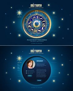 Emily Tornton Website Templates by Delta Free Website Templates, Html Templates, Web Design Trends, Circle Shape, Page Design, Astrology, Fortune Teller, Palmistry, Timeline