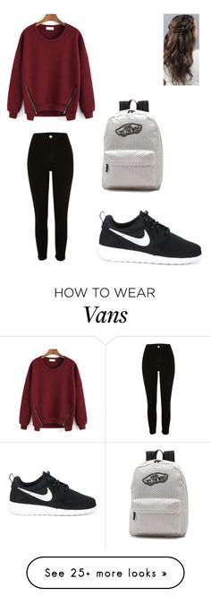 """Untitled #132"" by koala33375 on Polyvore featuring River Island, NIKE and Vans"