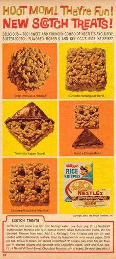 1963 Ad Scotch Treats Recipe