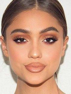 56 ideas makeup eyeshadow simple natural looks brows for 2019 - dress models - Make-Up Wedding Makeup For Brunettes, Wedding Makeup For Brown Eyes, Make Up Looks, Contour Makeup, Makeup Eyeshadow, Eyeshadow Palette, Makeup Brushes, Eyeshadow Brushes, Drugstore Makeup