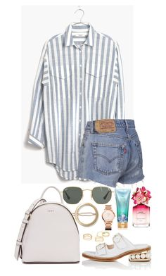 """""""Untitled #546"""" by margaridasilv ❤ liked on Polyvore featuring Victoria's Secret, Madewell, Charlotte Russe, Ray-Ban, DKNY, Marc Jacobs, Vacheron Constantin and Nicholas Kirkwood"""