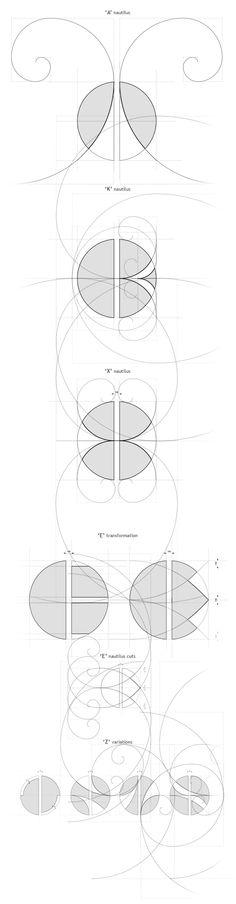 Φont typeface by teokon design, via Behance