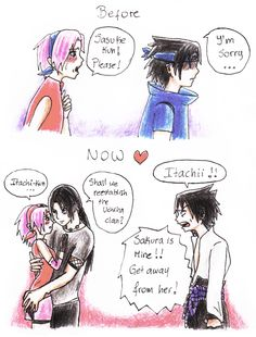 You deserve it by XSaku-ItaX.deviantart.com on @deviantART. ItaSaku Itachi and Sakura