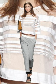 The Top 20 Fashion Trends Of 2014 #refinery29 -  See-Through Stripes — This trend isn't new, per se, but it does seem to be reaching a fever pitch this season. Worn with sheer slips and badass bustiers, a little see-through action gives a boxier silhouette a bit of an X-factor.