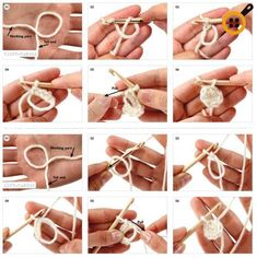 An easy tutorial for righties and lefties :) , The magic loop trick. An easy tutorial for righties and lefties :) , The magic loop trick. An easy tutorial for righties and lefties :) , Crochet Magic Circle, Magic Ring Crochet, Crochet Circles, Tunisian Crochet, Learn To Crochet, Crochet Stitches, Crochet Patterns, Blanket Patterns, Knitting Patterns