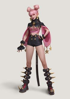 Pin by lompy art on misc character themes in 2019 Female Character Design, Character Design References, Character Design Inspiration, Character Concept, Character Art, Cyberpunk, Art Anime, Character Outfits, Fantasy Girl